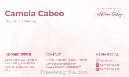 Adelina Galery Business Card PSD Template