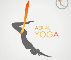 Aerial yoga logo vector