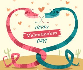 Alternative valentines day cartoon illustration vector