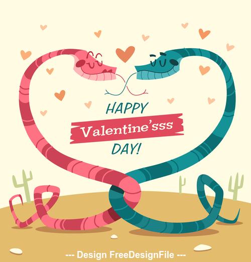 Alternative valentines day cartoon illustration vector