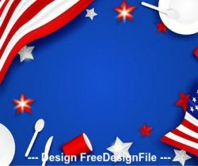 American independence day greeting card vector