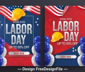American labor day poster vector