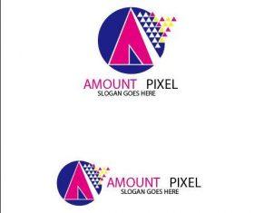 Amount Pixel Logo vector