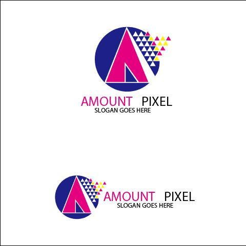 Amount Pixel Logo vector