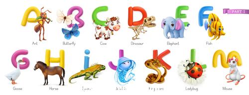 Animals word list vector