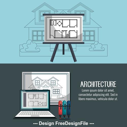 Architectural design vector