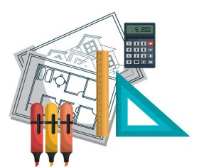 Architectural work design vector