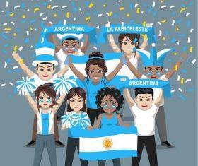 Argentina fans vector