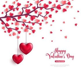 Artistic creative Valentines day greeting card vector