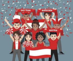 Austria fan club vector