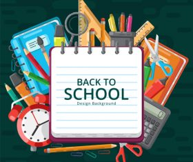 Back to school and accessories vector