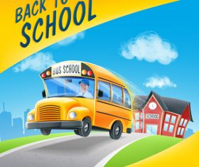 Back to school bus vector