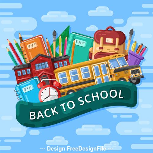 Back to school illustration vector