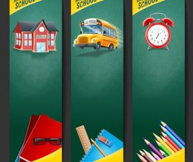 Back to school roll up banner vector