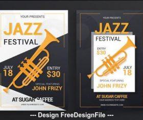 Banner jazz festival poster vector