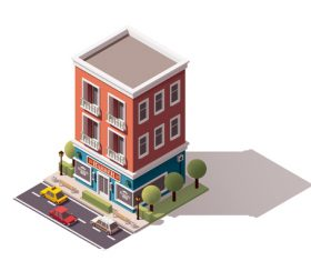 Barbershop building vector
