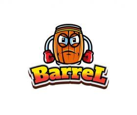 Barrel mascot logo vector