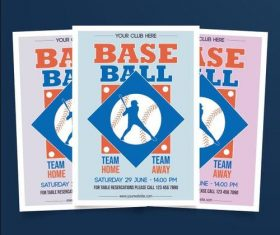 Base ball poster vector