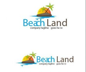 Beach Land Logo vector