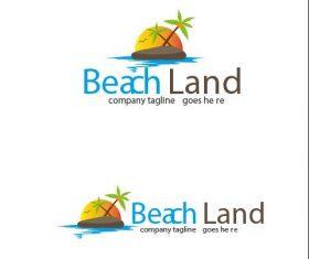 Beach Land Logo vector