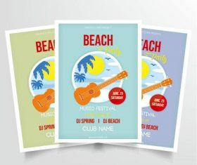 Beach music performance poster vector