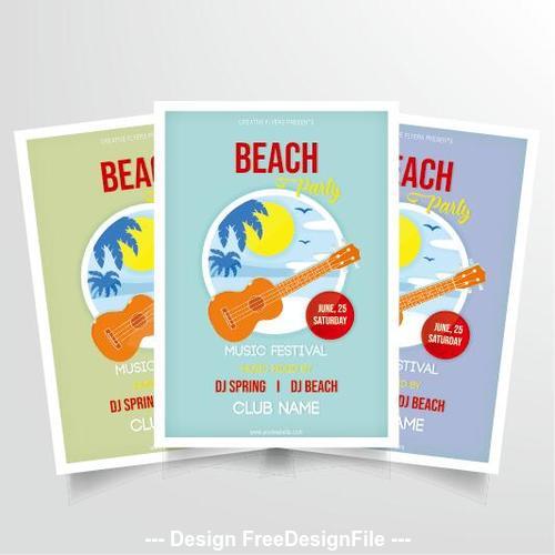 Beach music performance poster vector