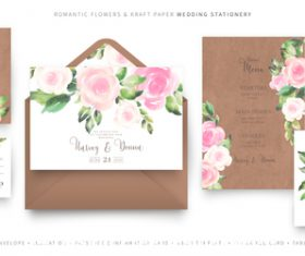 Beautiful wedding invitations template vector