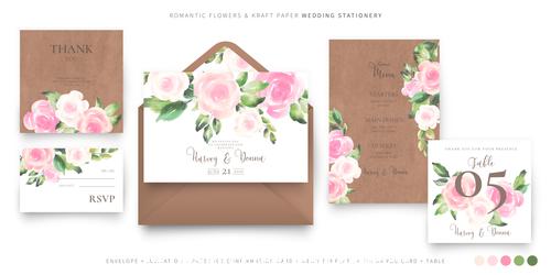 Beautiful wedding invitations template vector