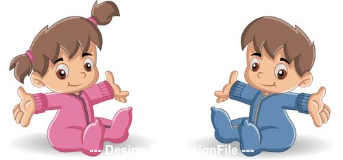 Bebes cartoon character vector