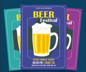 Beer festival poster vector
