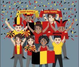 Belgium fan club vector