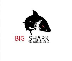 Big Shark Logo vector