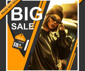 Big sale cover template design vector