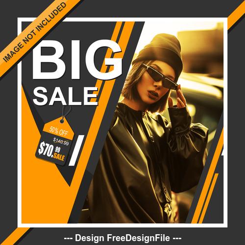 Big sale cover template design vector