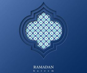 Blue background beautiful muslim illustrations vector