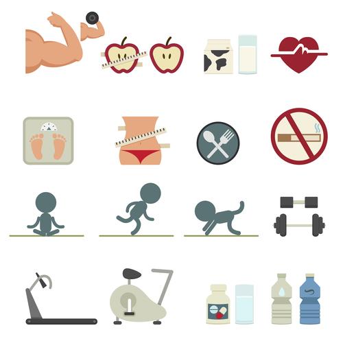 Body nutrition vector