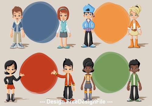 Bolas cartoon character vector