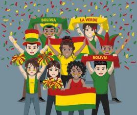 Bolivia fan club vector