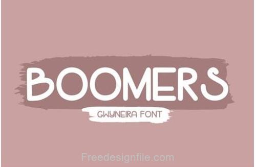Boomers Fonts