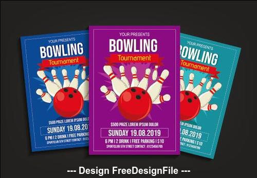 Bowling match poster vector