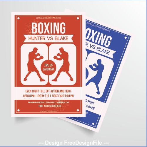 Boxing tournament poster vector
