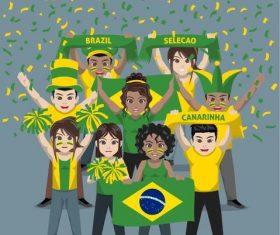 Brazil fan club vector