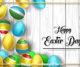 Bright easter egg background vector