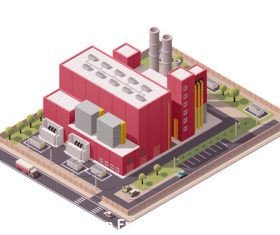 Buildings factory vector