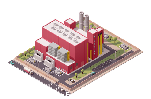 Buildings factory vector