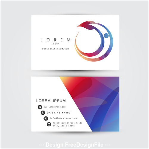 Business card front and back template design vector