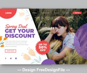 Business sale page template vector