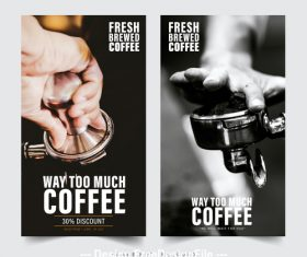 Cafe promotion image flyer vector