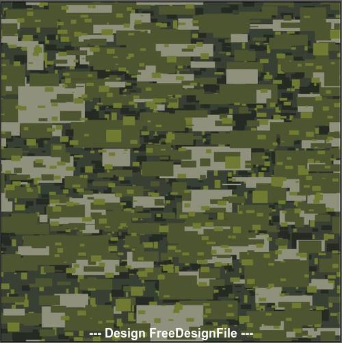 Camouflage urban disruptive block khaki seamless pattern vector