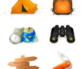 Camping adventure tool vector